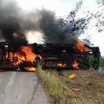 Kwilu : Au moins 46 personnes mortes calcinées dans l'accident d'un bus transportant du Lotoko et de l'huile de palme