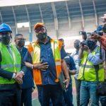 RDC : Le ministre de Sport a lancé les travaux de réhabilitation du Stade des Martyrs