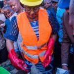 Kananga : Pose de la première pierre pour la construction d'un Centre d'excellence professionnel sur le site de Tshilumba